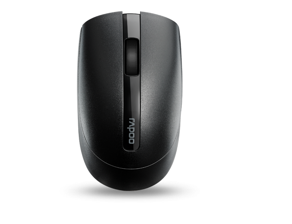 เมาส์ Rapoo M17 Silent Wireless Optical Mouse Black
