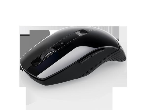 เมาส์ Rapoo 3710P Wireless Laser Mouse Black