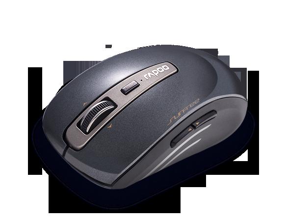 เมาส์ Rapoo 3920P Wireless Laser Mouse Black