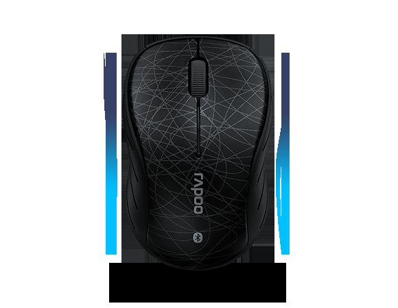 เมาส์ Rapoo 6080 Bluetooth Optical Mouse Black
