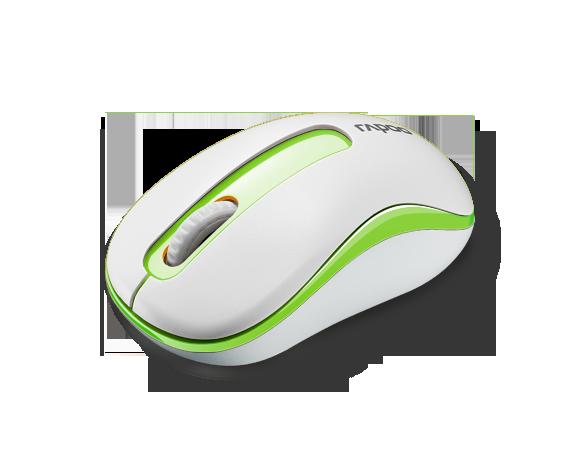 เมาส์ Rapoo M10 Wireless Optical Mouse Green