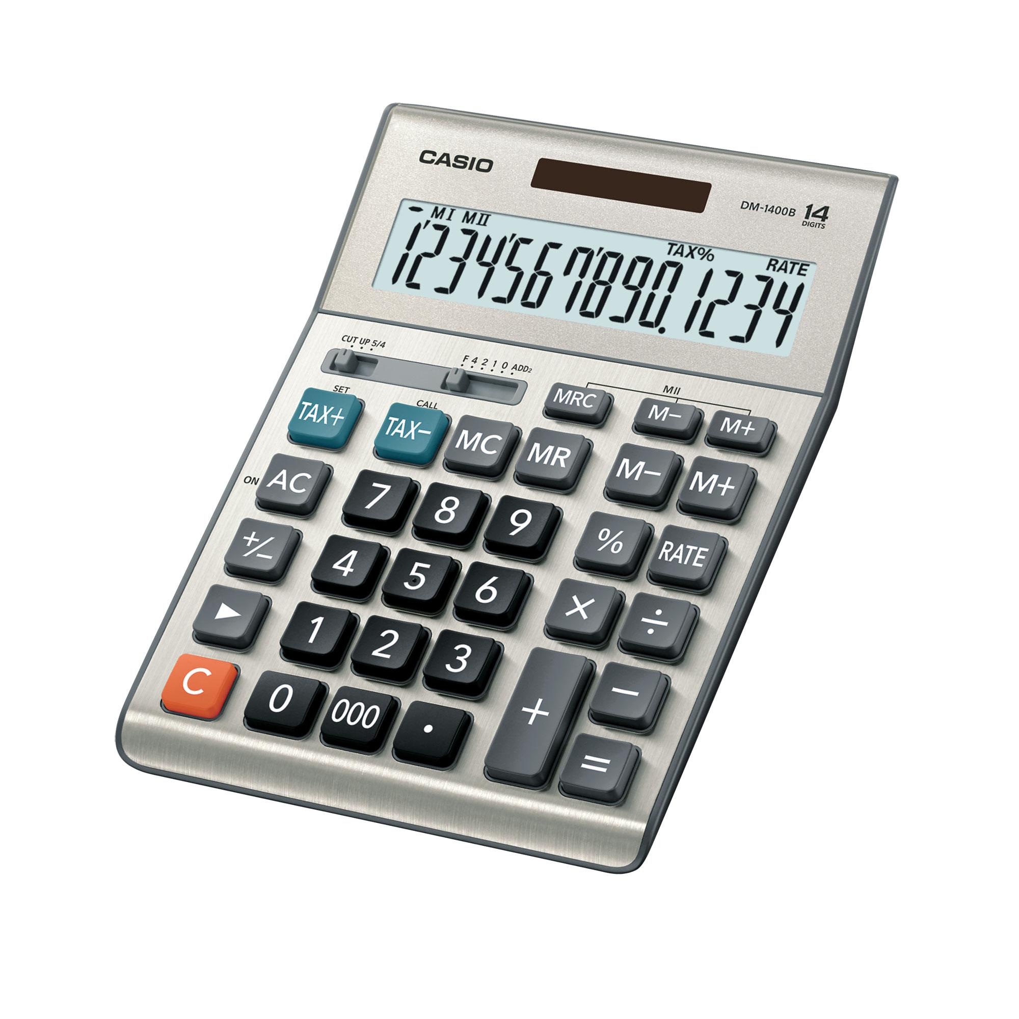 เครื่องคิดเลข Casio แบบมีฟังส์ชั่น 14 Digits DM-1400B