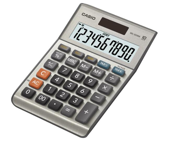 เครื่องคิดเลข Casio แบบมีฟังส์ชั่น 10 Digits MS-100BM