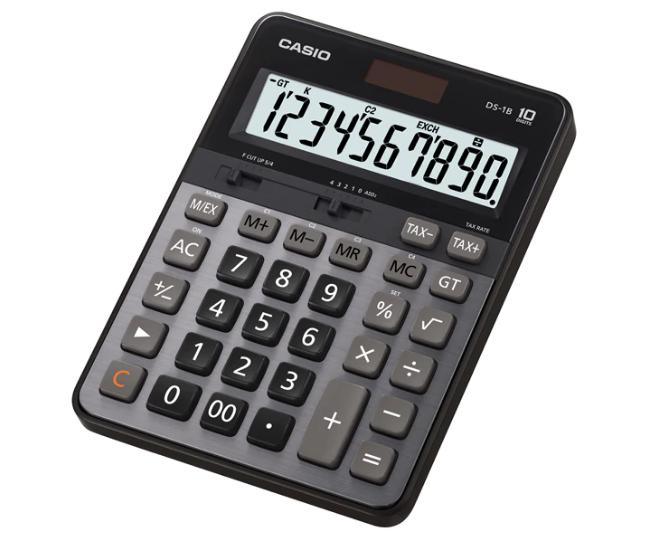 เครื่องคิดเลข Casio แบบมีฟังส์ชั่น - HEAVY DUTY 10 Digits DS-1B