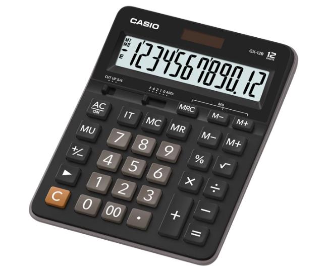 เครื่องคิดเลข Casio แบบไม่มีฟังส์ชั่น 12 Digits GX-12B
