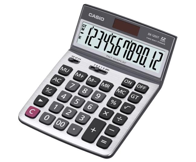 เครื่องคิดเลข Casio แบบไม่มีฟังส์ชั่น 12 Digits DX-120ST