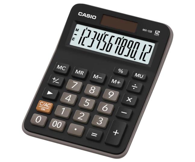 เครื่องคิดเลข Casio แบบไม่มีฟังส์ชั่น 12 Digits MX-12B