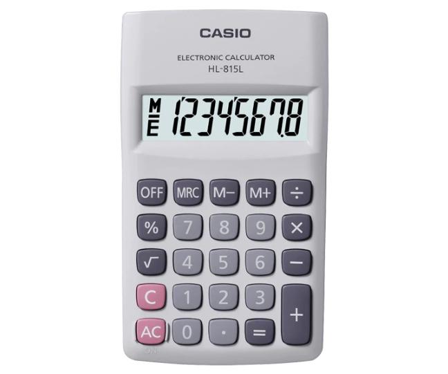 เครื่องคิดเลข Casio แบบพกพา 8 Digits HL-815L