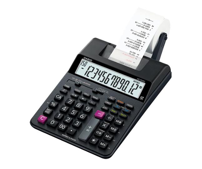 เครื่องคิดเลข Casio แบบพิมพ์ - อิ้งโรลล์ 12 Digits HR-100RC