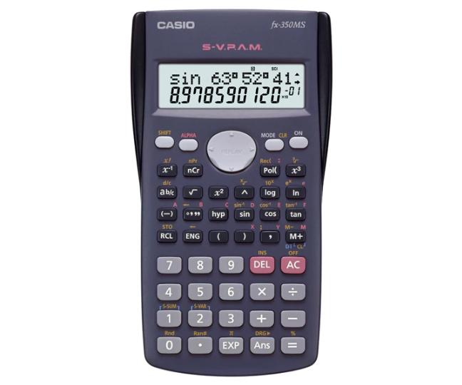 เครื่องคิดเลข Casio แบบคำนวณทางวิทยาศาสตร์ 10+2 Digits fx-350MS