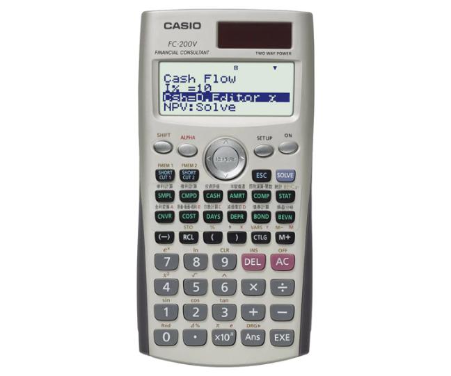 เครื่องคิดเลข Casio แบบคำนวณทางธุรกิจ 10+2 Digits FC-200V
