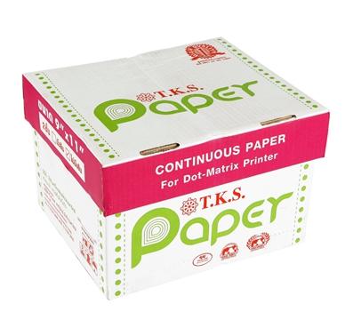 กระดาษต่อเนื่อง T.K.S. 9x11 / 2 ชั้น