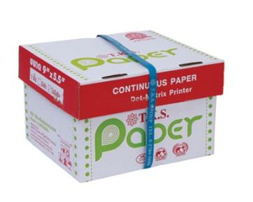 กระดาษต่อเนื่อง T.K.S. 9 x 5.5 / 1 ชั้น