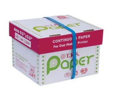 กระดาษต่อเนื่อง T.K.S. 9.5x5.5 / 2 ชั้น