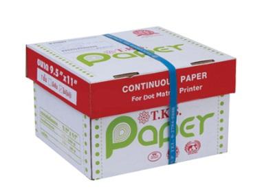 กระดาษต่อเนื่อง T.K.S. 9.5x11 / 1 ชั้น