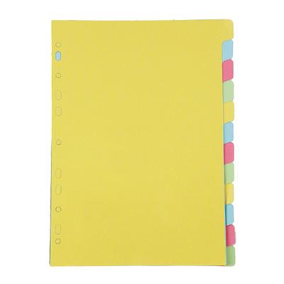 อินเด็กซ์กระดาษการ์ด ใบโพธิ์ 12 หยัก คละสี