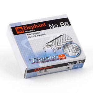 ลวดเย็บกระดาษ ตราช้าง Titania B8-1M (หลังโค้ง)