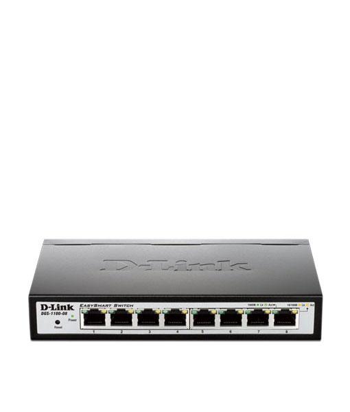 SWITCH HUB (สวิตซ์ฮับ) 8 PORTS Gigabit Smart D-LINK DGS-1100-08 (H/W : A, Desktop)
