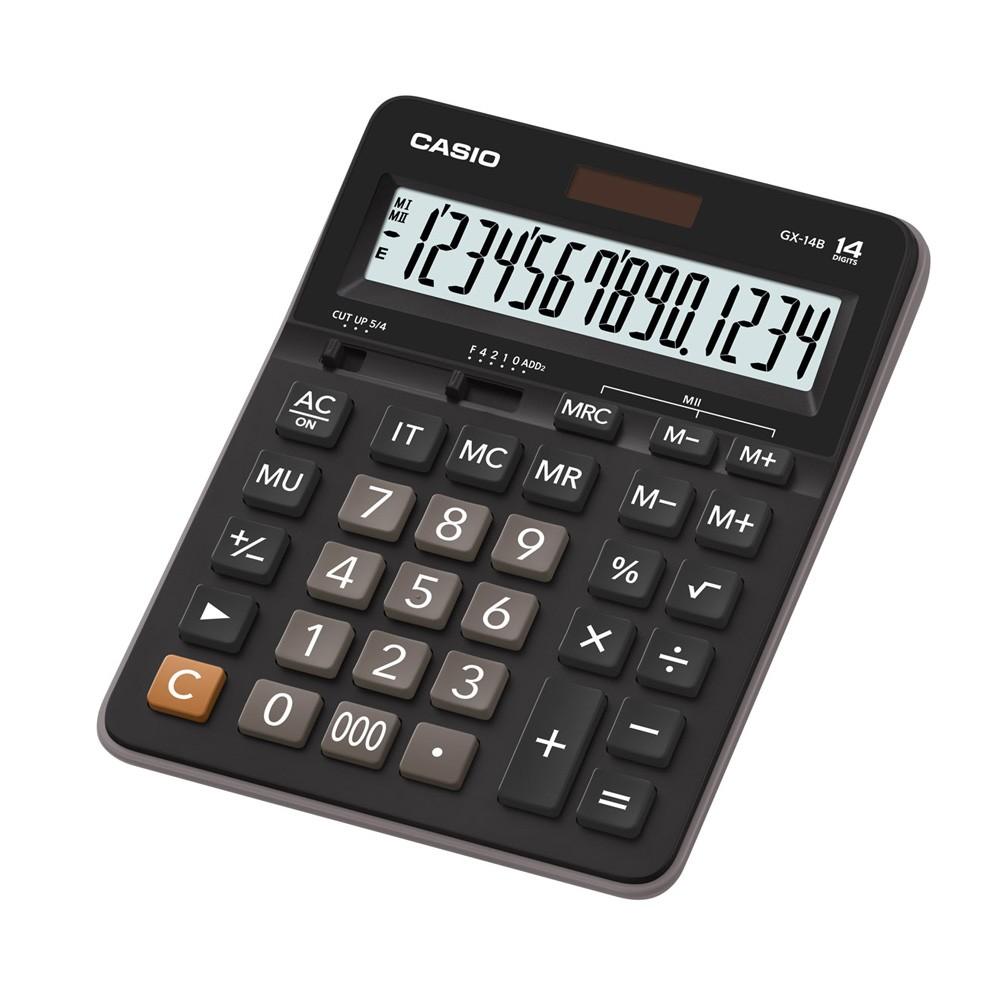 เครื่องคิดเลข Casio แบบไม่มีฟังส์ชั่น 14 Digits GX-14B