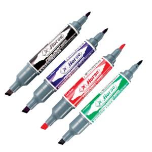 ปากกามาร์คเกอร์ (เคมี) 2 หัว ตราม้า