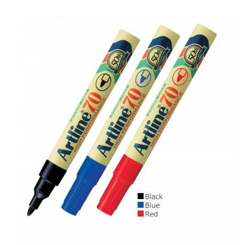ปากกามาร์คเกอร์(เคมี) หัวแหลม Artline EK-70