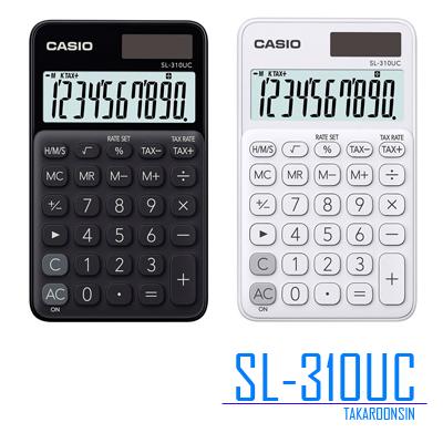 เครื่องคิดเลข 10 หลัก SL-310UC (สีขาว/สีดำ) CASIO