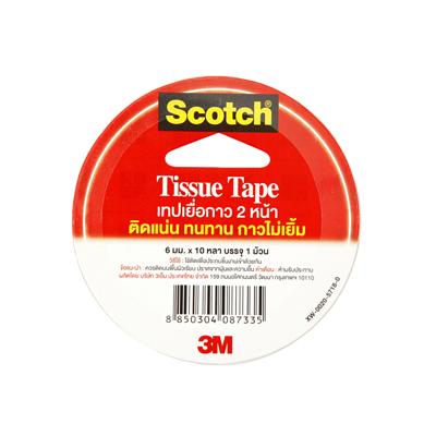 เทปเยื่อกาว 2 หน้า 6mm x 10yd Scotch 3M #777