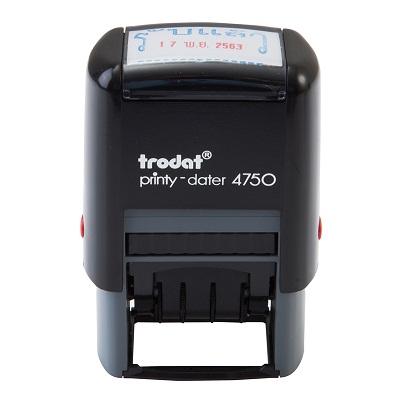 ตรายางวันที่ หมึกในตัว +รับแล้ว Blue-Red Trodat TR-4750