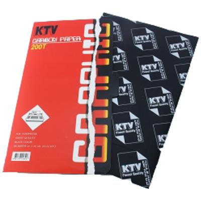 กระดาษคาร์บอน ชนิดพิมพ์ ดำ 200T KTV Graphic