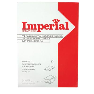 แผ่นใส ถ่ายเอกสาร Imperial 100 ไมครอน A4 (แพ็ค100แผ่น)