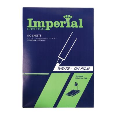 แผ่นใส เขียน Imperial 100 ไมครอน A4 (แพ็ค100แผ่น)