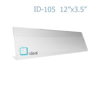 ป้ายตั้งโต๊ะอะคริลิค รูปตัว L ID-105 12x3.5 นิ้ว IDEAL