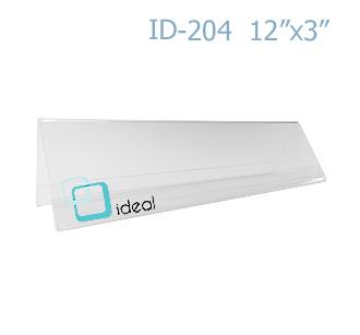 ฉากป้ายชื่อ 2 ด้าน ID-204 12 x 3 นิ้ว IDEAL