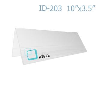 ฉากป้ายชื่อ 2 ด้าน ID-203 10 x 3.5 นิ้ว IDEAL