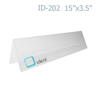 ฉากป้ายชื่อ 2 ด้าน ID-202 15 x 3.5 นิ้ว IDEAL