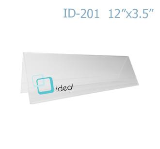 ฉากป้ายชื่อ 2 ด้าน ID-201 12 x 3.5 นิ้ว IDEAL