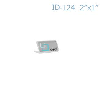 ป้ายตั้งโต๊ะอะคริลิค รูปตัว L ID-124 2x1 นิ้ว IDEAL