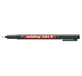 ปากกาเขียนแผ่นใส ลบน้ำไม่ได้ หัว F 141 EDDING