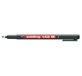 ปากกาเขียนแผ่นใส ลบน้ำไม่ได้ หัว M 142 EDDING