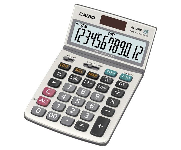 เครื่องคิดเลข Casio แบบไม่มีฟังส์ชั่น  12 JW-120MS