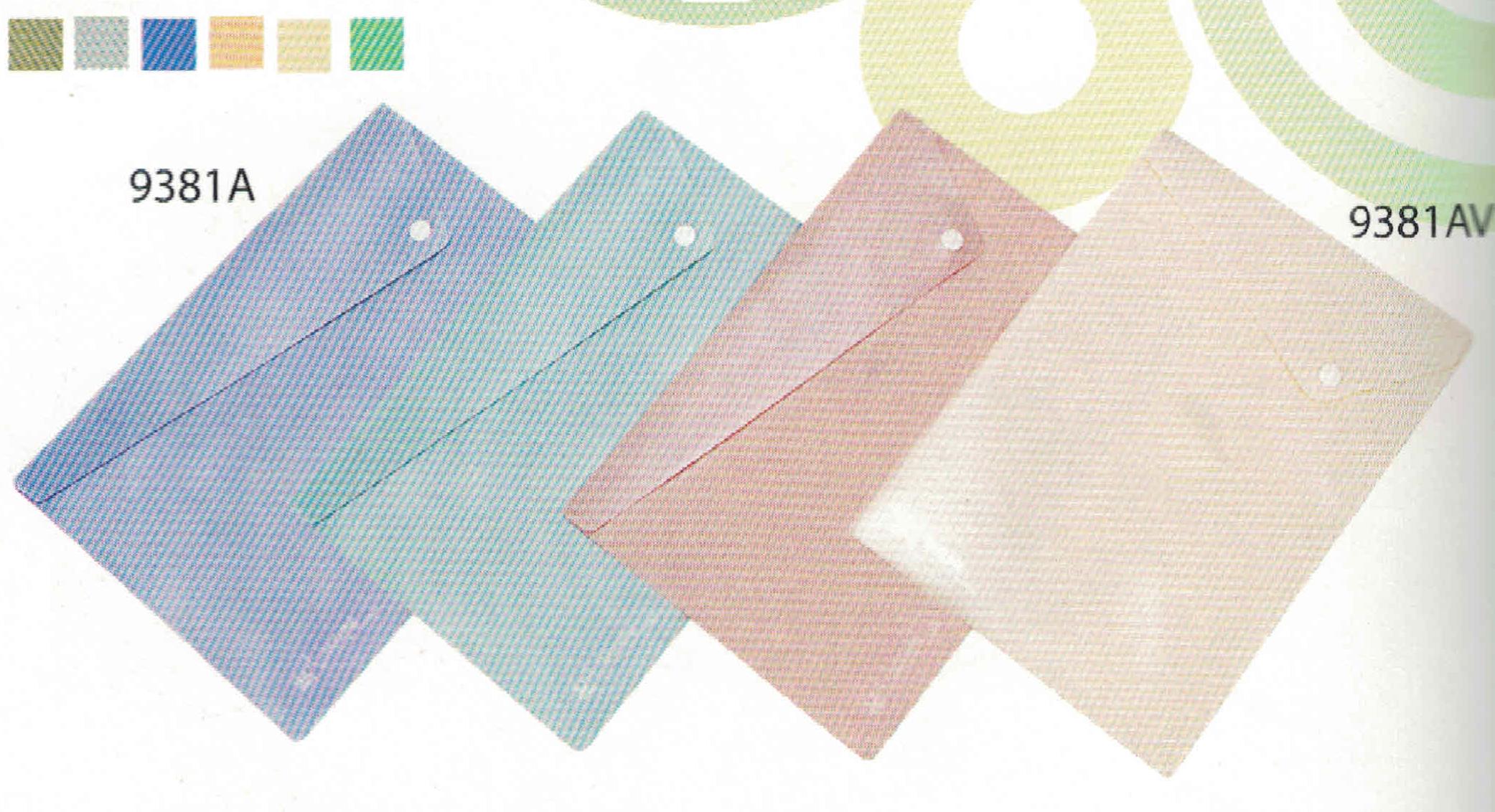 แฟ้มซองกระดุมพลาสติก A4 Flamingo 9381AV