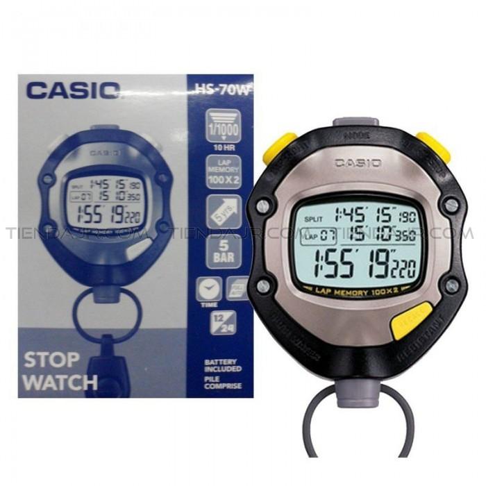 นาฬิกาจับเวลา CASIO STOPWATCH SPORTY  รุ่น HS-70W