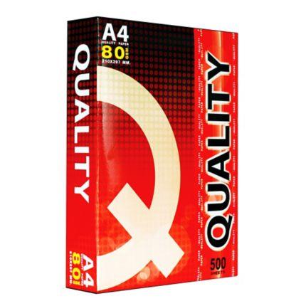 กระดาษถ่ายเอกสาร A4 80G Quality