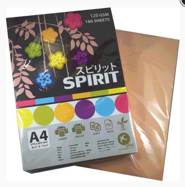 กระดาษการ์ดสี SPIRIT 120 แกรม คละสี
