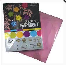 กระดาษการ์ดสี SPIRIT 150 แกรม