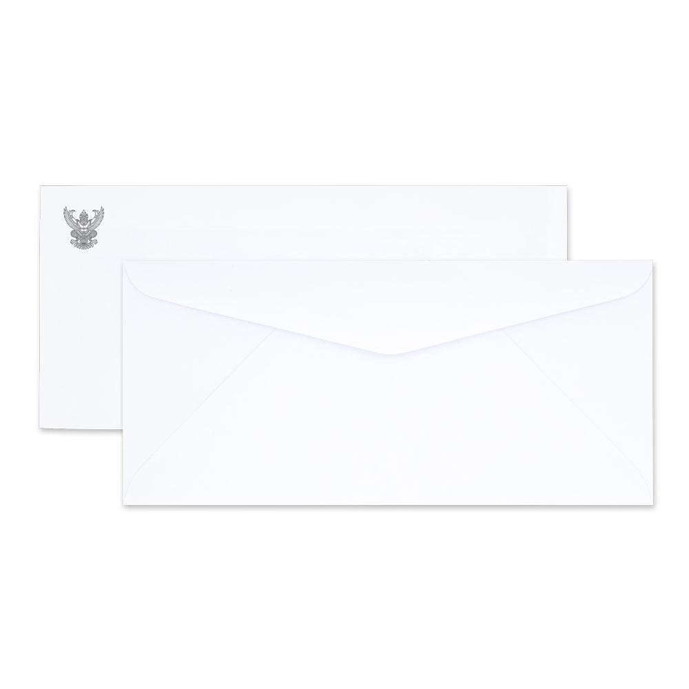 ซองจดหมายขาว พิมพ์ครุฑ เบอร์ 9 80แกรม