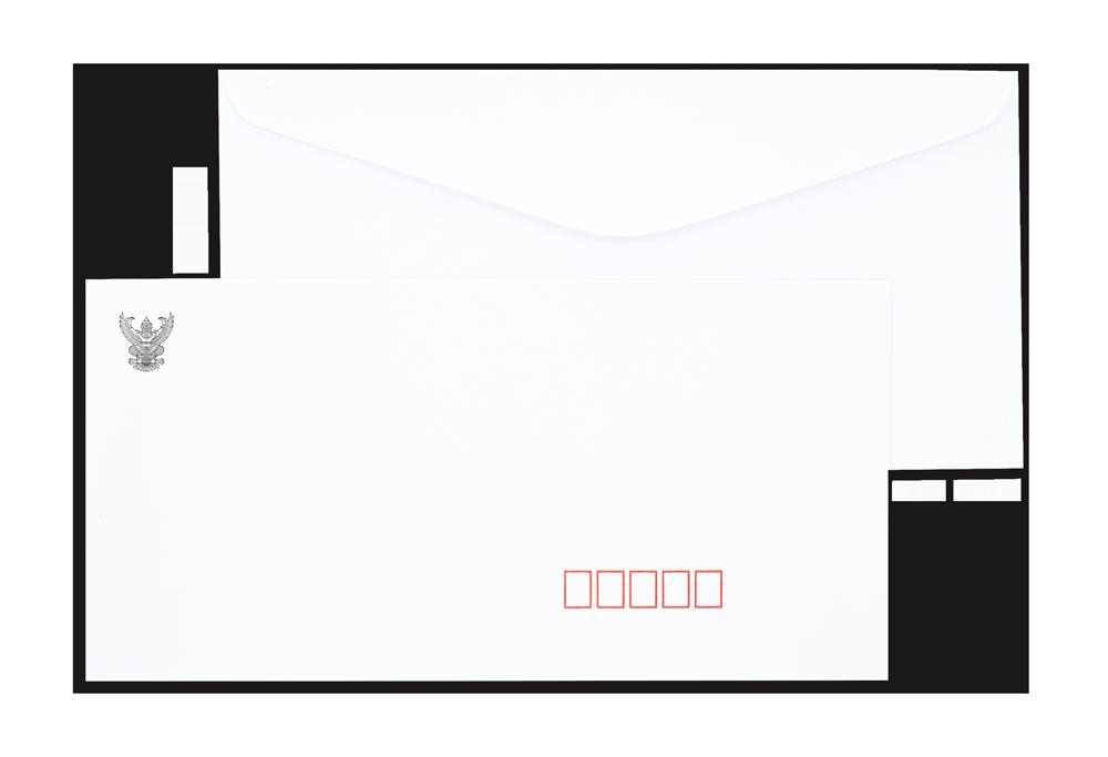 ซองจดหมายขาว พิมพ์ครุฑ DL/125  100 แกรม