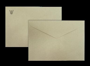 ซองเอกสารน้ำตาล พิมพ์ตราครุฑสีดำ No.10/100 BA  (พับ2)