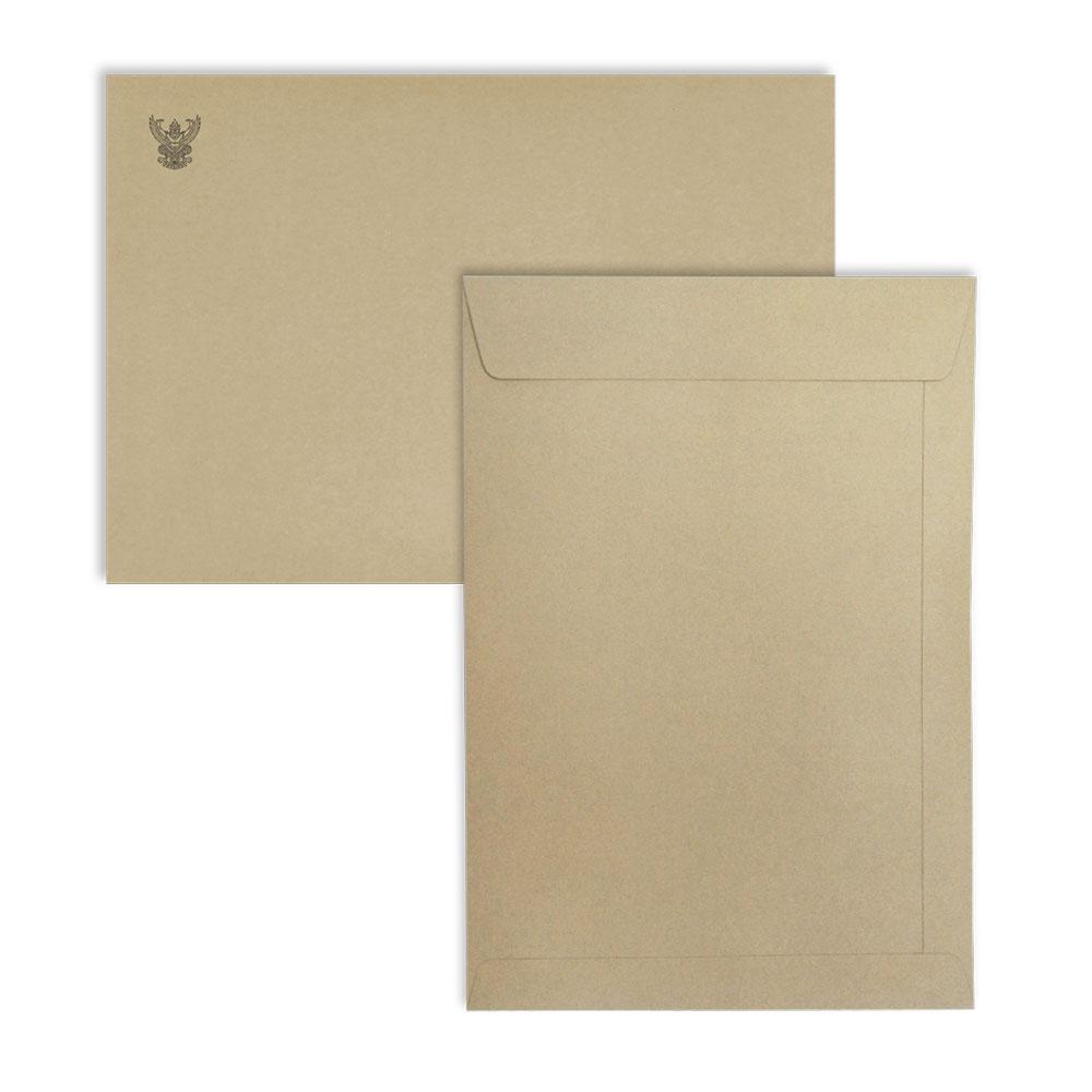 ซองจดหมายสีน้ำตาล พิมพ์ครุฑ  No.9x12 3/4 BA