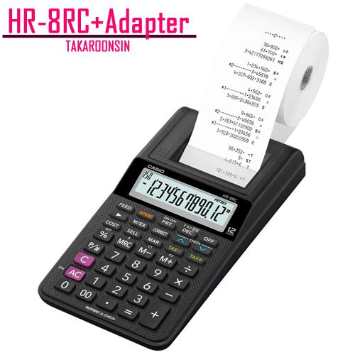 เครื่องคิดเลข Casio 12 หลัก HR-8RC+AD แบบพิมพ์ - อิ้งโรลล์